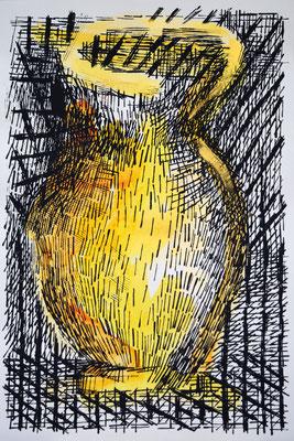 LA GIARA n°5 - 2017 - 77,3x52,3cm-acrilico su cartoncino