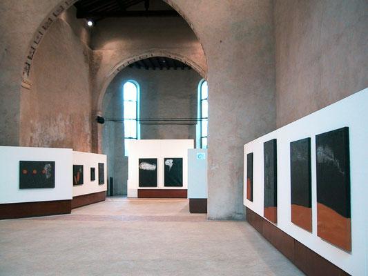 """2005 - Enzo Cursaro - """"Sospensioni"""" Spazio Arte di Vicenza."""