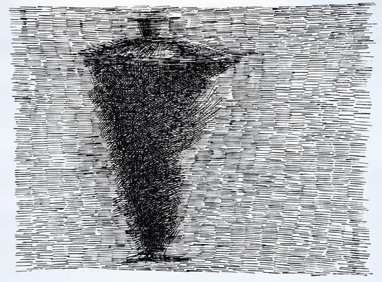 L'ombra 2016 - 77x104cm. acrilico su carta