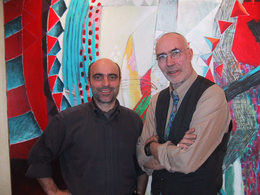 2004 - Enzo Cursaro con l'artista Jurgen Waller - Cannes.