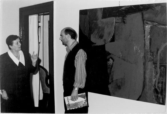 1995 - Enzo Cursaro - con la gallerista Francesca Varotto direttrice della Galleria Prisma di Verona.