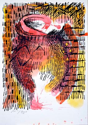 L'ANFORA n°14 - 72x50,5cm-acrilico su carta CORDENONS-260g/m2