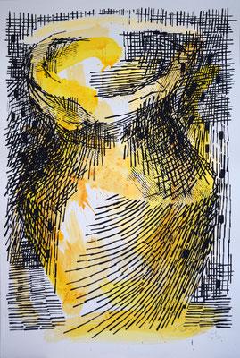 LA GIARA n°4 - 2017 - 77,2x51,8cm-acrilico su cartoncino