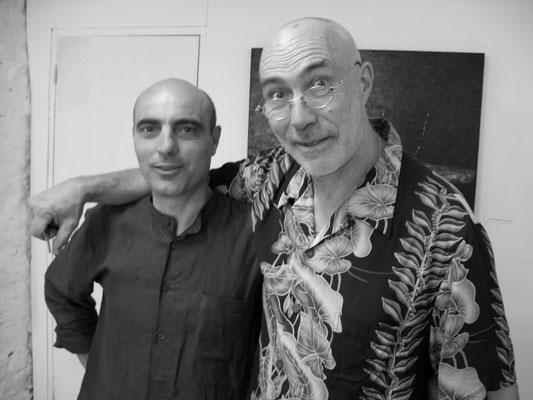 2004 - Enzo Cursaro con l'artista Jurgen Waller, Vallauris.