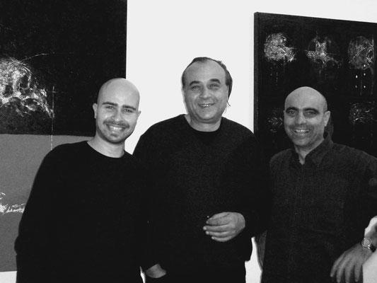 2004 - Enzo Cursaro con gli artisti Lello Torchia e Nino Longobardi - Napoli.