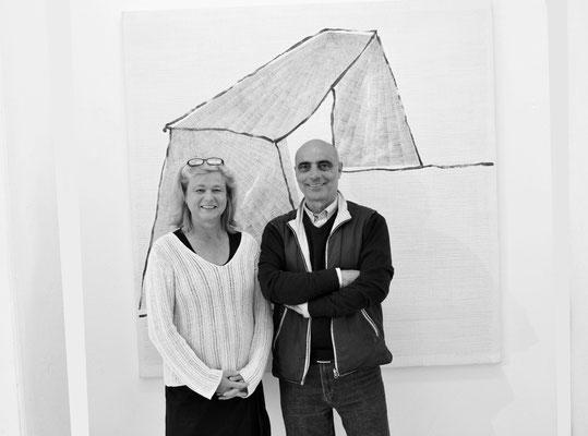 2015 - Con Claudia Jennewein direttrice Galerie Kunstkontor, Nurmberg.