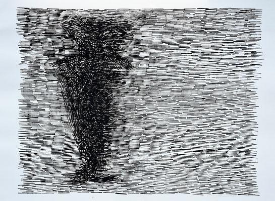 L'ombra n°1 - 2016 - 77x104cm. acrilico su carta