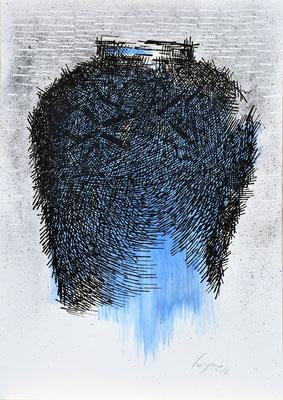La Giara azzurra n°10 - 2016 - 101x73cm. acrilico su carta