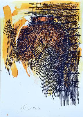 La Giara n°31 - 2017 - 101x72cm. acrilico su carta