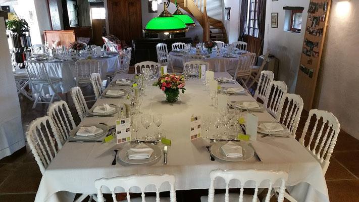 Domaine de Millox, table des mariés