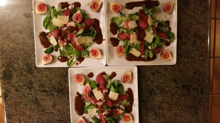 domaine de Millox, table d'hotes, entrée salade d'automne