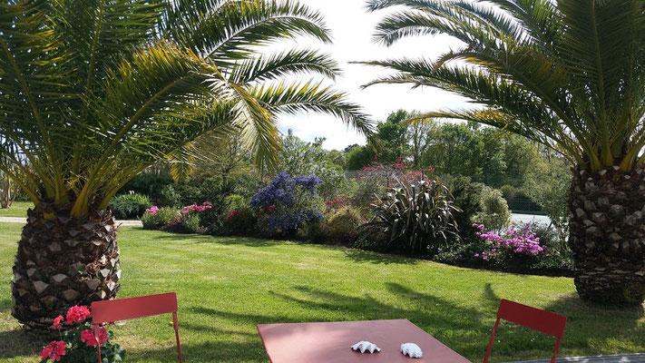 Domaine de Millox coté jardin