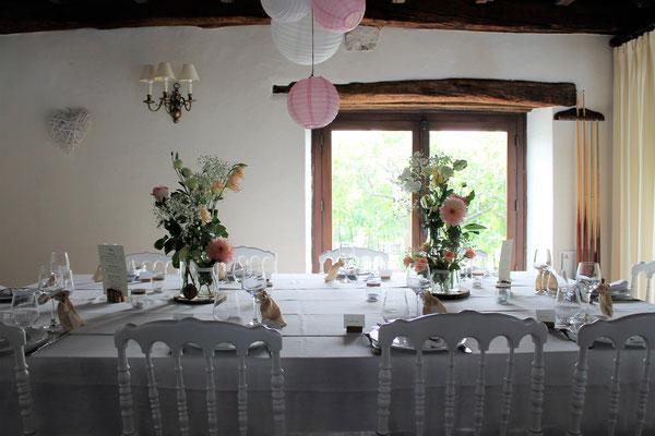 Domaine de Millox, vue de la table des mariés