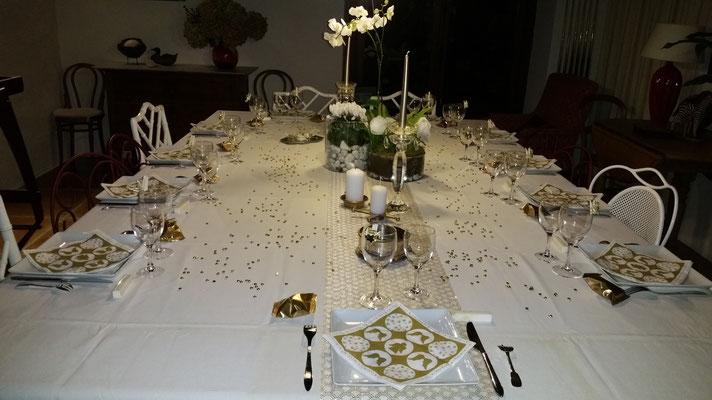 Domaine de Millox, table décorée
