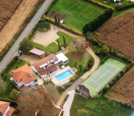 Domaine de Millox, vue aérienne
