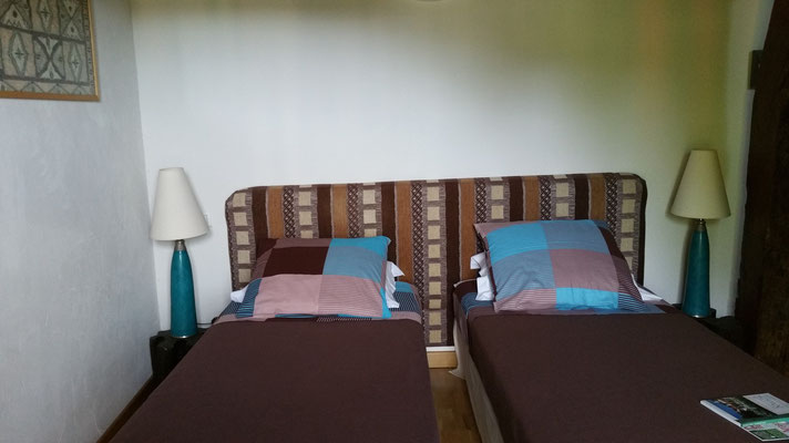 domaine de Millox, chambre Moutouchi aménagée avec 2 lits jumeaux, twins