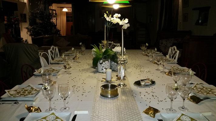 Domaine de Millox, décoration table Nouvel An