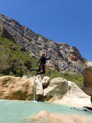 Canyon en Sierra de Guara (Espagne)