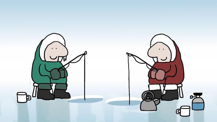 Studio Snugger - Curling is bedacht door twee ijsvissers Animatie Christa Moesker Animeer Groningen