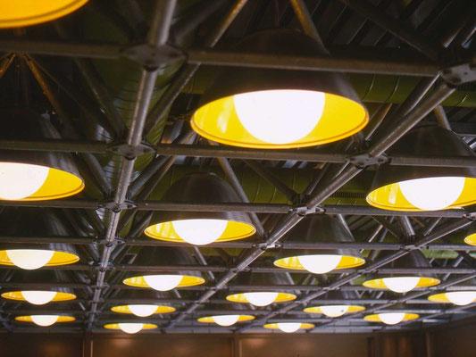 industriedesign, deckenraster, licht und lüftung, 1973