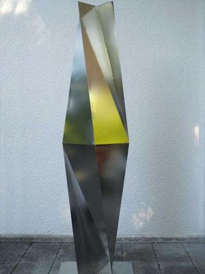 spiegelprisma, 2012, cns 3mm elektropoliert, 24x24x138