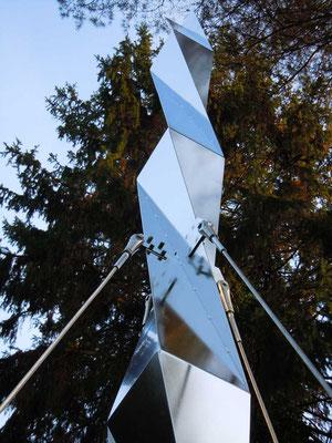 spiegelprisma, 2012, cns 3mm elektropoliert, 24x24x700
