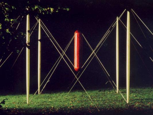 hängekonstruktion, 1977, holz