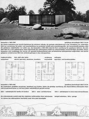normhaus z 360x360, 1960, prospektblatt