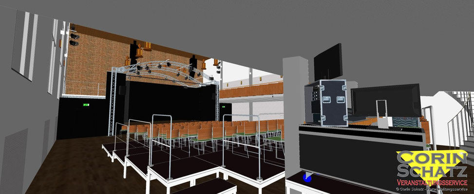 Wir erstellen für Sie komplexe CAD Modelle für Ihr Event