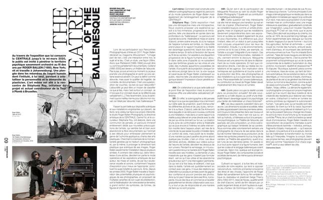 Roger BALLEN / CENTRALE for contemporary art  — L'art même, 2020