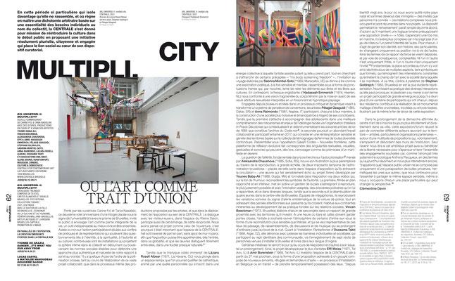 BXL UNIVERSEL II / CENTRALE for contemporary art  — L'art même, 2021