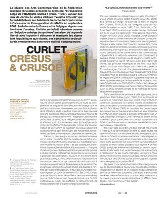 François CURLET / MAC's — L'art même, 2019