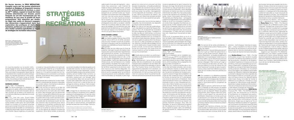 Barbara GERACI - Irina FAVERO-LONGO - Camille DUFOUR / Prix Médiatine — L'art même, 2019
