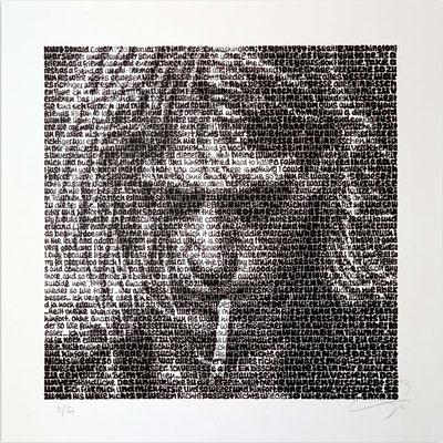 Kurt Cobain, Blatt 60 x 60 cm, Motiv 40 x 40 cm, Auflage 60 Blatt