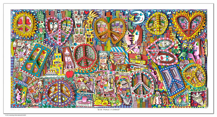 3D-Serigraphie mit Passepartout, 110 x 70 cm