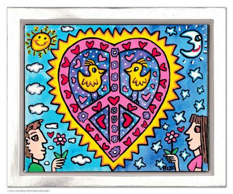 """""""My Love"""", Siebdruck auf Leinwand mit Schattenfuge, limitierte Auflage, 25,5 x 20 cm Motivmaß"""