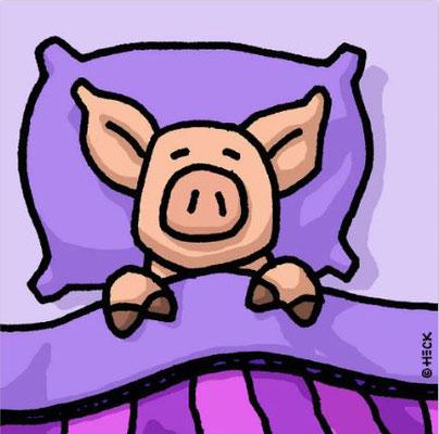 """""""Pig In A Blanket"""", Pigmentdruck, limitierte Auflage, Handsigniert, 70 x 70 cm"""