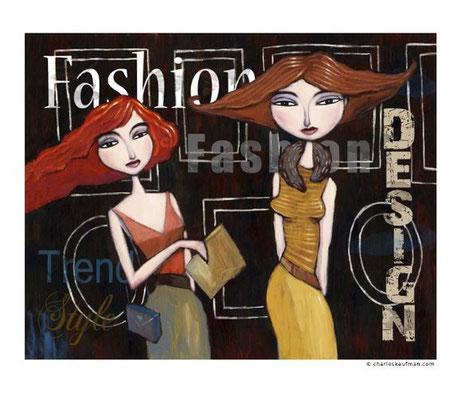 """""""Fashion"""", 3-D Art Grafik, Limitierte Auflage, handsigniert, mit Rahmen 50 x 40 cm"""