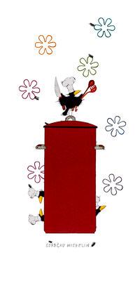 Corbeau Michelin, Kunstdruck, limitierte Auflage, handsigniert, 30 x 60 cm