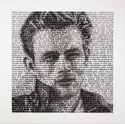 James Dean, Blatt 60 x 60 cm, Motiv 40 x 40 cm, Auflage 80 Blatt