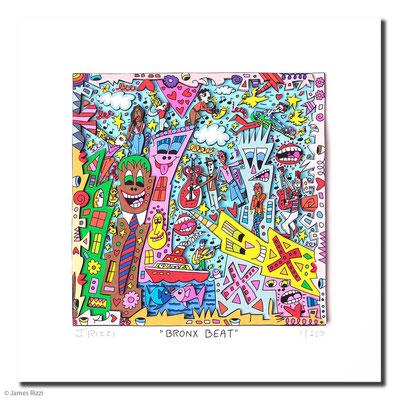 3D-Serigraphie mit Passepartout, 45 x 45 cm