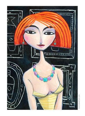 """""""I Met her in Paris"""", 3-D Art Grafik, Limitierte Auflage, handsigniert, mit Rahmen 40 x 50 cm"""