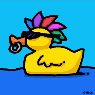 """""""Duck Gone Wild"""", Pigmentdruck, limitierte Auflage, Handsigniert, 50 x 50 cm"""