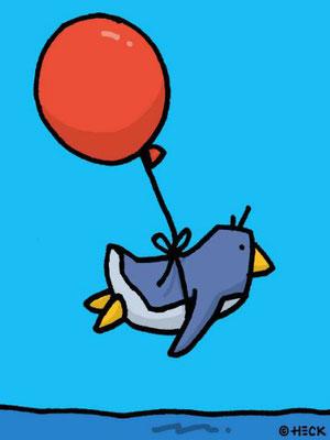 """""""Air Penguin"""", Pigmentdruck, limitierte Auflage, Handsigniert, 30 x 40 cm"""