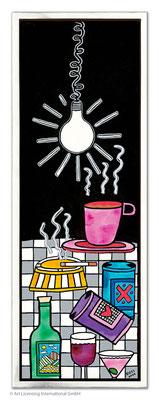 """""""Light Me Up"""", Siebdruck auf Leinwand mit Schattenfuge, limitierte Auflage, 30 x 90 cm Motivmaß"""