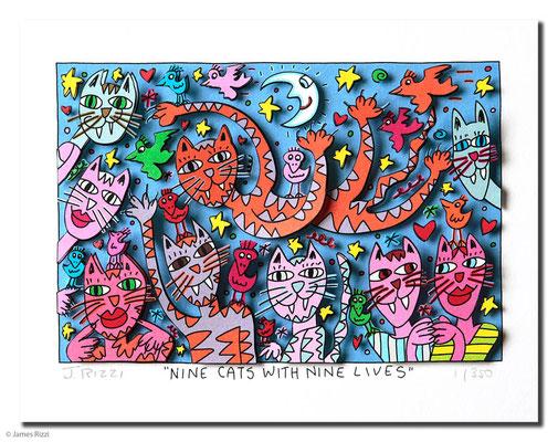 3D-Serigraphie mit Passepartout, 40 x 30 cm