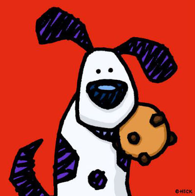 """If You Give A Dog A Cookie"", Pigmentdruck, limitierte Auflage, Handsigniert, 70 x 70 cm"