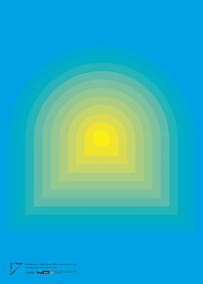 """Felix Stumpf, """"Portal"""" (Cyan, Gelb), Computergrafik, 2020"""