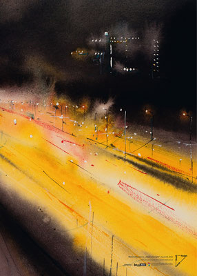 "Marina Abramova, ""Night and Light"", Aquarell, 2020"