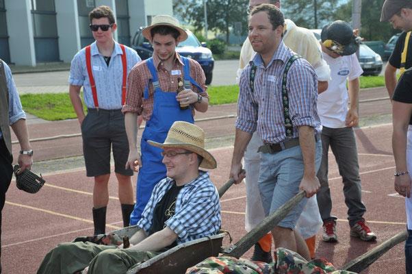 Auch ein Garettenrennen gehört zur Olympiade